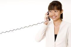 Op de Telefoon Royalty-vrije Stock Foto's