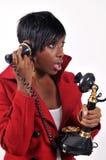 Op de telefoon Royalty-vrije Stock Afbeeldingen