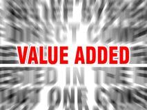 Op de toegevoegde waarde stock illustratie