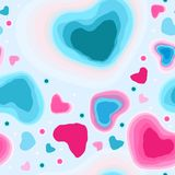 Op de vakantie is de Dag van Valentine ` s Koude harten Royalty-vrije Stock Fotografie