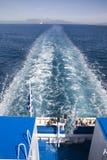 Op de veerboot stock foto's