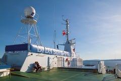 Op de veerbootDFDS ZEEWEGEN royalty-vrije stock foto