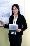 Op de vergadering stock foto