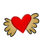 Op de vleugels van liefde stock fotografie