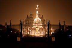 Op de vooravond van de Dag van de Republiek, goed aangestoken Rashtrapati Bhavan royalty-vrije stock afbeelding