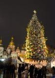 op de vooravond van 2016 Nieuwjaar in Kiev Stock Foto