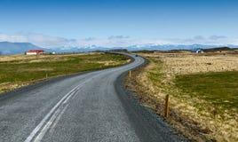 Op de weg stock afbeelding