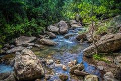 Op de Weg aan Drakensberg Stock Foto