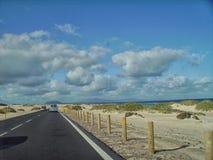 Op de Weg - Fuerteventura Stock Afbeeldingen