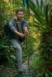 Op de wildernisweg stock fotografie