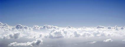 Op de wolken Stock Foto