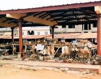 Op de Woodoo-markt in Ouidah, Benin stock afbeeldingen