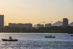 Op de Yangtze-Rivier royalty-vrije stock afbeelding