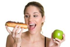 Op dieet zijnde Vrouw Stock Afbeeldingen