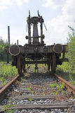 Op door het Opruimen op een oude industriezone Royalty-vrije Stock Foto
