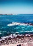 Op edje van het eiland van Puerto Rico stock foto