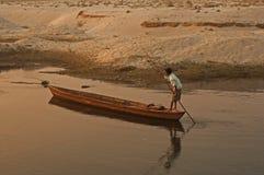 Op een boot Stock Foto's