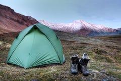 Op een Campingtour in de Herfst Royalty-vrije Stock Afbeeldingen