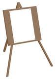 De schildersezel van de driepoot met een leeg blad van document op de knopen Royalty-vrije Stock Afbeelding