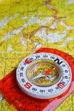 Op een reis - met betrouwbare navigatie Royalty-vrije Stock Foto