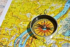 Op een reis - met betrouwbare navigatie Stock Fotografie