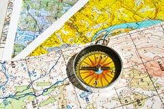 Op een reis - met betrouwbare navigatie Royalty-vrije Stock Afbeelding