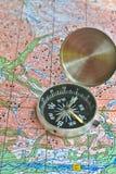 Op een reis - met betrouwbare navigatie Stock Afbeeldingen
