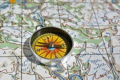 Op een reis - met betrouwbare navigatie Royalty-vrije Stock Foto's