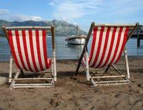 Op een strand Royalty-vrije Stock Afbeeldingen