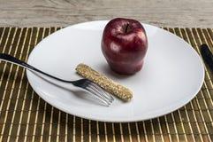 Op een strikt dieet stock afbeeldingen