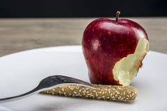 Op een strikt dieet stock foto