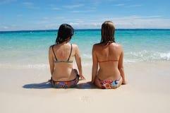 Op een tropisch strand Stock Fotografie