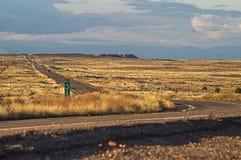 Op een weg in Arizona, de V.S. Stock Afbeelding
