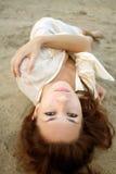 Op een zand stock fotografie