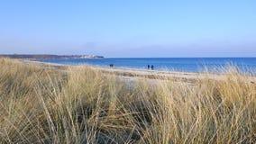 Op een zonnige de winterdag bij het overzees Royalty-vrije Stock Foto