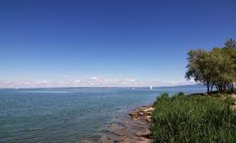 Op een zonnige middag op het Meer van Constance Stock Foto's