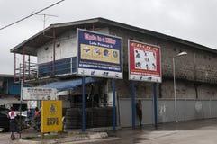 Op elke hoek is teken voor Ebola-Virus Royalty-vrije Stock Fotografie