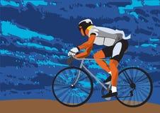Op fiets stock illustratie