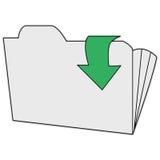 Op folder royalty-vrije stock afbeeldingen