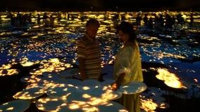 op gelete mensen zoals bloeit 'bloom' in Mori Digital Art Museum royalty-vrije stock afbeelding