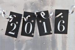 2015 op glanzende achtergrond Stock Afbeeldingen