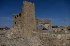 Op het dak van abdullah-Khan madrasah in complexe kosh-Madrasah royalty-vrije stock afbeelding