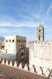 Op het dak van de kathedraal van Palermo Royalty-vrije Stock Foto's
