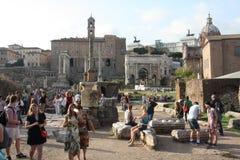 Op het Forum Romanum Royalty-vrije Stock Foto's