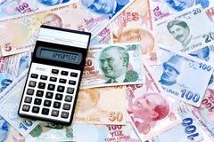 Op het geld Stock Foto