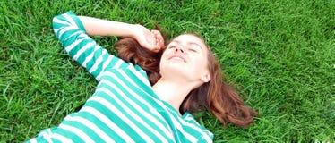 Op het gras Stock Fotografie