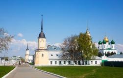 Op het grondgebied van het Kremlin in de stad van Kolomna, Moskou Regio Royalty-vrije Stock Afbeelding