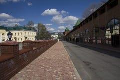 Op het grondgebied van Nizhny Novgorod het Kremlin Royalty-vrije Stock Afbeeldingen