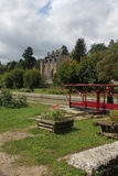 Op het kanaal du Nivernais, velo, Chatillon Engelse Bazois Royalty-vrije Stock Foto