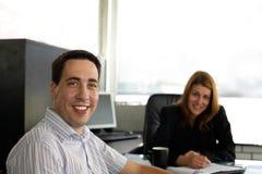 Op het kantoor Stock Fotografie